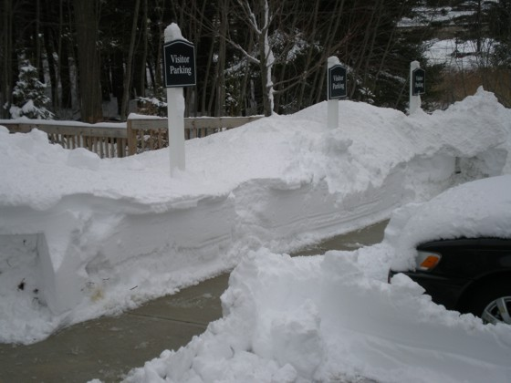 More snow piled high