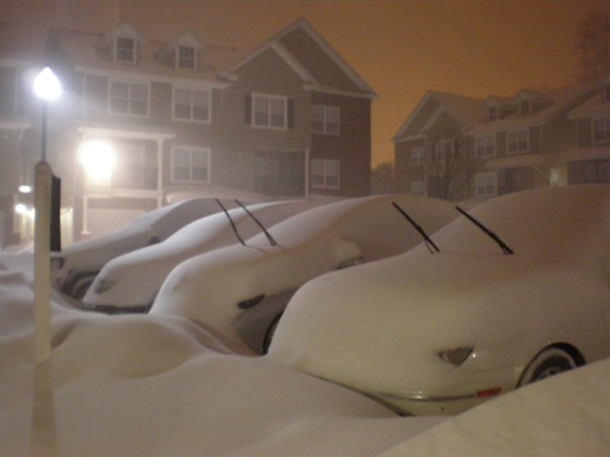 Shelton, CT snow January 12, 2011  a.m. EST