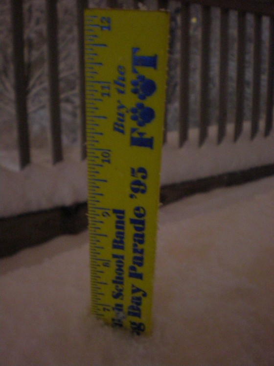 6.5-7.0 inches of snow