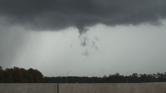 Brief tornado near Dayton, TX.