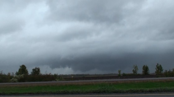 Wall cloud north of Dayton, TX.