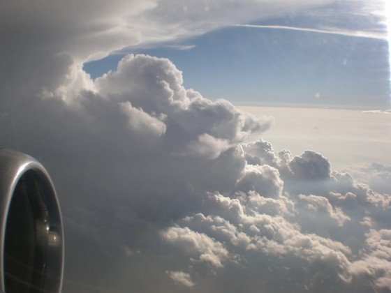 Supercell near Charlotte, NC causing my flight to be re-directed to Columbia, SC