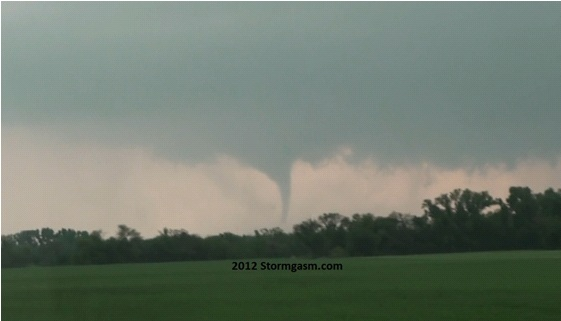 One of the first views we had of the tornado