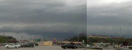 Shelf cloud in Greensburg, PA.