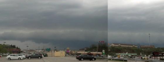 Shelf cloud in Greensburg, PA.