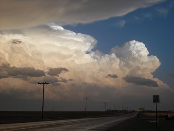 Hail storm west of Burlington, CO.