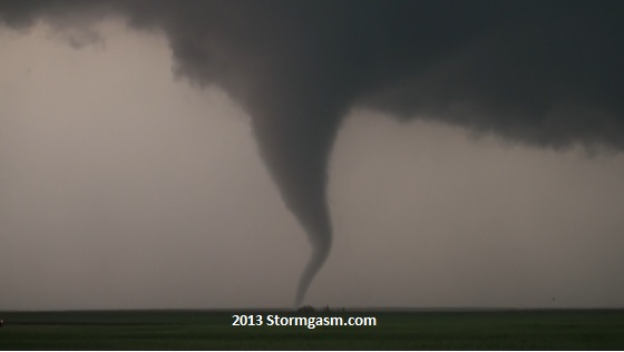 Tornado east of Rozel, KS on May 18, 2013.