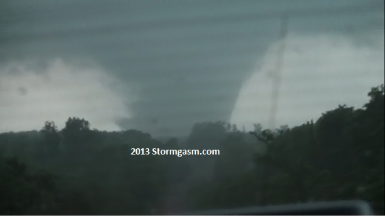 Tornado near Carney, Oklahoma on May 19, 2013.
