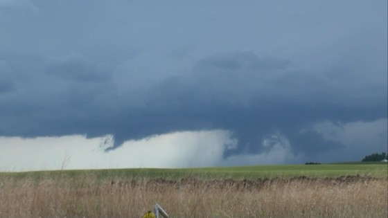 A funnel-like scud cloud.  I'm a little surprised this was not reported as a funnel!