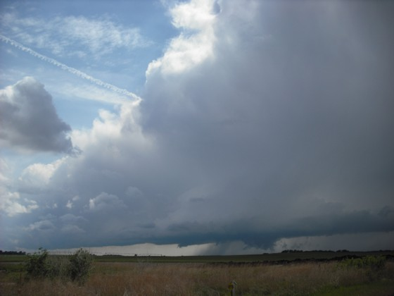 Storm northeast of Pratt, KS.