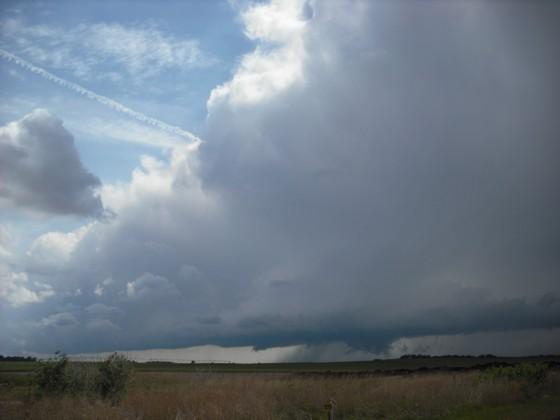 Storm northeast of Pratt, KS.