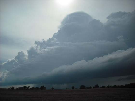 We dropped south to just east of Pratt for this new cell.