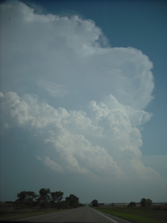 Supercell exploding to our south.
