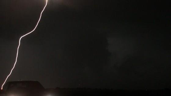 Lightning strikes very close!
