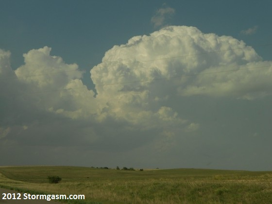 First storm in the area tries to develop north of Hays, KS on May 27.