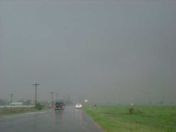 Rain wrapped meso on the cell in northern Norman/Moore, OK.