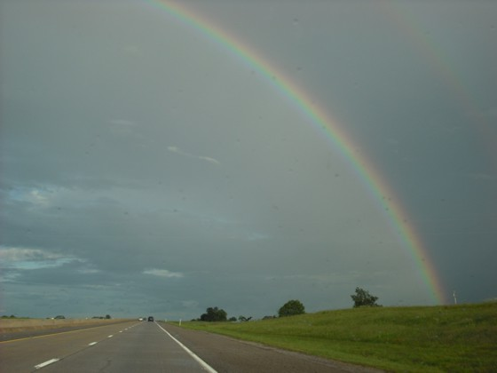Rainbow in eastern Oklahoma on May 25