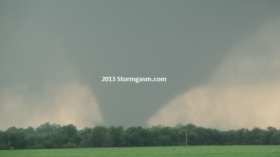 Tornado near Bennington, KS.