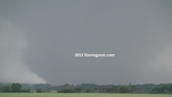 Wedge tornado near Bennington, KS.
