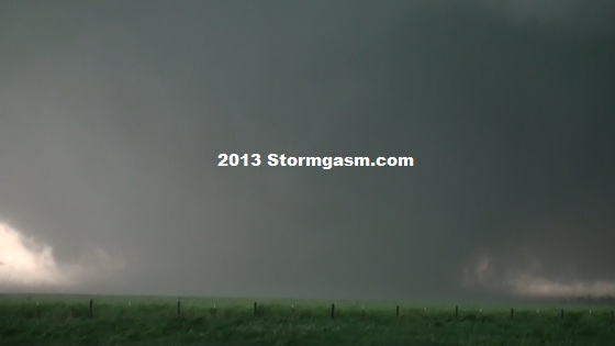 Tornado just east of El Reno, Oklahoma