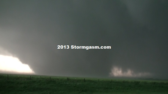 Tornado just east of El Reno, Oklahoma on May 31, 2013