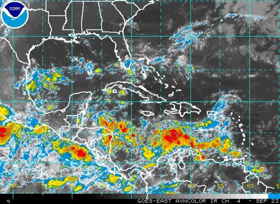 Infrared satellite image the morning of September 23