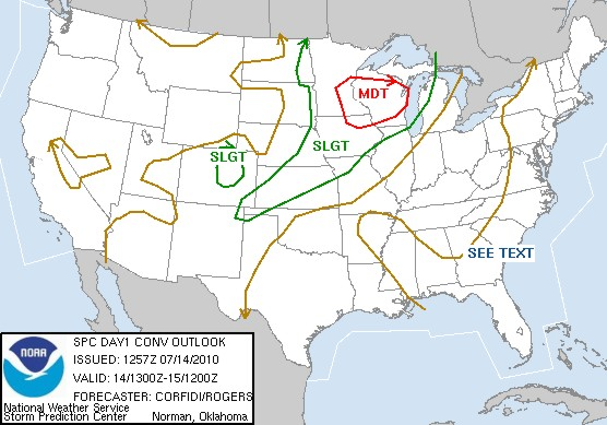 SPC Day 1 Outlook for July 14
