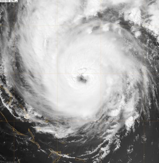 Hurricane Earl on the morning of September 2