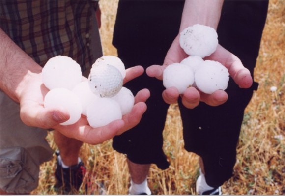 Hail from May 27, 2002 in the Texas Panhandle by Stormgasm chasers