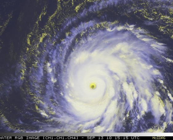 RGB Satellite Image of Hurricane Igor 1515 UTC September 13