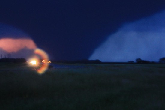EF3 Tornado in North Dakota August 12, photo courtesy NWS Bismarck, ND
