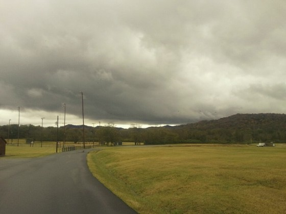 Ominous clouds in middle Tennessee.  Photo by Robert Nacarato.