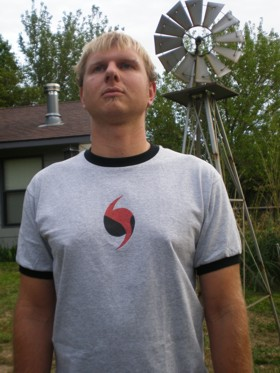 Jesse Duncan, shirt model. Was my awesome and fearless chase driver May 10.