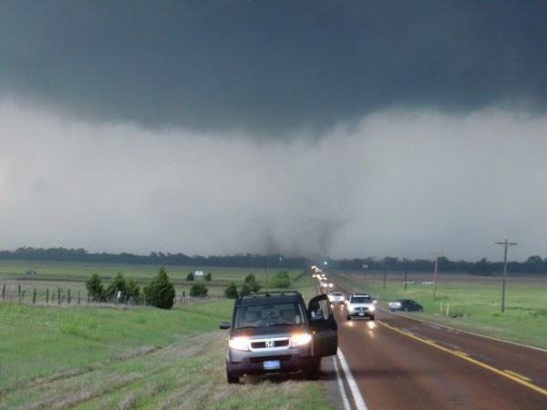 Tornado west of Wakita, OK