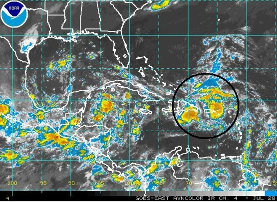 Infrared satellite valid July 20 13:15 UTC