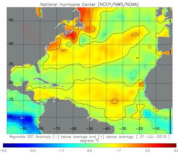 Atlantic Sea Surface Temperature Anomalies