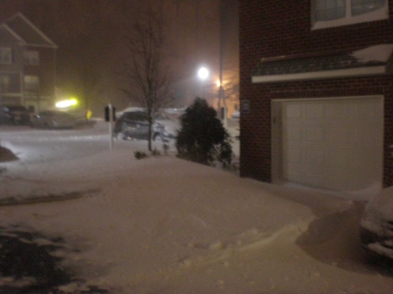 Taken just outside my apartment around 8:30pm EST Dec 26, 2010