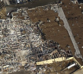 Walmart on 20th St. and highway 71 in Joplin (the one I ran into).  Photo courtesy AP.